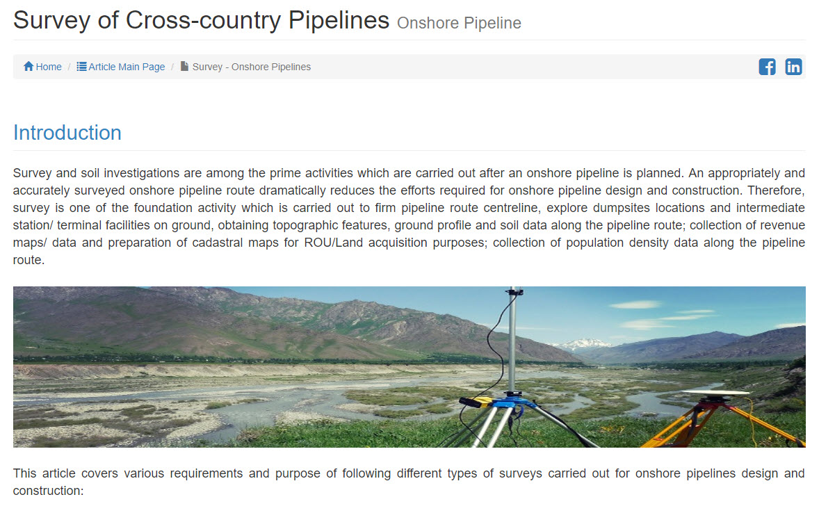 Onshore Pipeline Survey